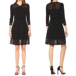 NWT Calvin Klein Dress with Illusion Hem